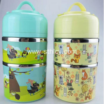 Colorful Airtight Stainless Steel Food Container Set